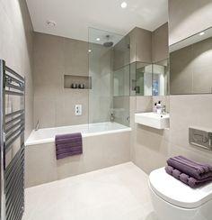 Bath with glass window