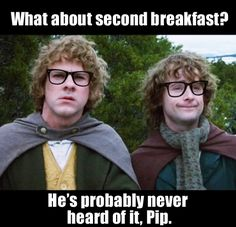 Hipster hobbits! Knowing their personalities they probably want to redo the whole LOTR with hipster hobbits. :) I love Merry and Pippin!!