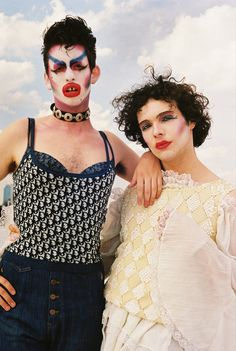 US Moral Decay & Destructive Illuminati Sex Culture Push by media - Warning Signs of Collapse - new york couples on love, friendship, and the importance of pride - i-D Robert Mapplethorpe, Drag Queens, Body Painting, The Wicked The Divine, Queer Art, Queer Fashion, Club Kids, Gender Bender, Poses