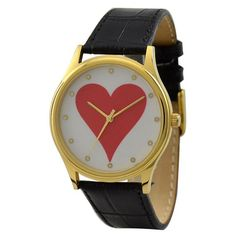 Hearts Card Suits Watch (Gold) ($35.00) - Svpply