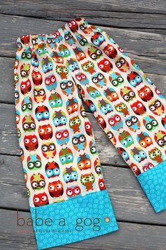 wish they made these in my size FUNky OWLS Comfy Wide Leg Lounge Pants for Babies and by babeagogo, $20.00