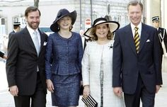 Hereditary Grand Duchess Stéphanie and Grand Duchess Maria Teresa of Luxembourg | The Royal Hats Blog