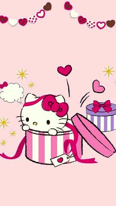 Hello Kitty Wallpaper Hd, Hello Kitty Pictures, Snoopy, Kawaii, Bows, Wallpapers, Frame, Flower Designs, Arches