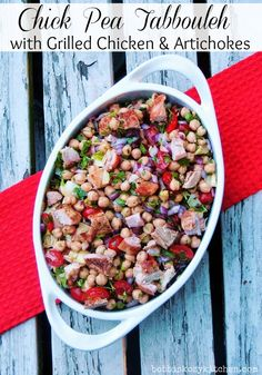 Chickpea Tabbouleh with Grilled Chicken and Artichokes - Bobbi's Kozy Kitchen – ENJI Daily #glutenfree