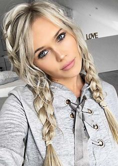 Beautiful 100 Trendy Long Hairstyles for Women: Braided Pigtails  The post  100 Trendy Long Hairstyles for Women: Braided Pigtails…  appeared first on  Haircuts and Hairstyles 2018 .
