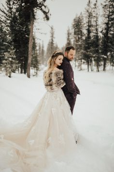 LaNeige Bridal specializes in bridal, Quinceañera, prom & homecoming gowns & tuxedo & suit fittings. Snowy Wedding, Winter Wonderland Wedding, Dream Wedding, Winter Wedding Cape, Winter Formal, Winter Weddings, Romantic Weddings, Wedding Couples, Wedding Photos
