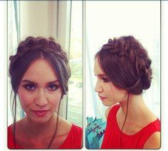 Milkmaid braids- Wedding guest hair style