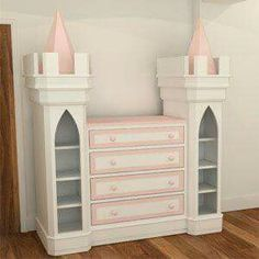 Luxury Princess Chest of Drawers -Girls Bedroom Furniture Princess Bedrooms, Princess Room, Princess Castle, Princess Theme Bedroom, Princess Beds, Princess Nursery, Teenage Girl Bedrooms, Little Girl Rooms, Baby Bedroom