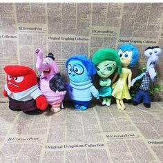 6Pcs/Lot 2015 New Movie Inside Out Plush Toy Fear Joy Disgust Sadness Anger Plush Toy