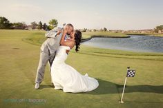 Las Vegas Event and Wedding Photographer - Exceed Photography, Bride and Groom on the Golf Course