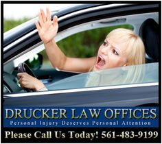 Drucker Law Offices 7777 Glades Road #210 Boca Raton FL 33434 (561) 483-9199 http://www.floridalawteam.com/   Drucker Law Offices handles car accidents, motorcycle accidents, truck accidents, slip and fall, trip and fall, product liability, bicycle accidents, wrongful death, construction site accidents, work site accidents, vehicle rollovers and more.