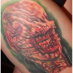 Had to send a pic of the healed tattoo to the artist, so here it is. The #chatterer from #hellraiser done by @alex_rattray_ink  back in November.