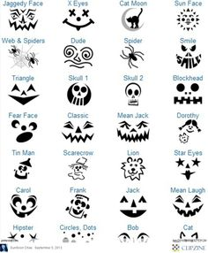 Katie, remind me to bring these this year when we do pumpkins! I never know what I want to do. Pumpkin Carving Patterns
