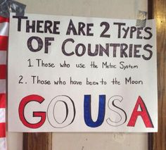 There are two types of countries in the world...