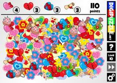 Hidden Valentine icons | Digipuzzle.net Valentine Games, Sprinkles, Icons, Candy, Kids, Sweet, Children, Toffee, Boys