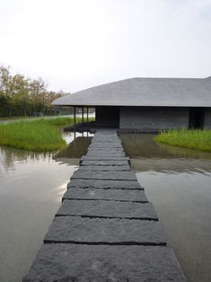 Sagawa Art Museum, Moriyama Shiga, by takenaka architects corp Architecture Details, Landscape Architecture, Interior Architecture, Landscape Design, Garden Design, Outdoor Spaces, Outdoor Living, Paving Stones, Stepping Stones