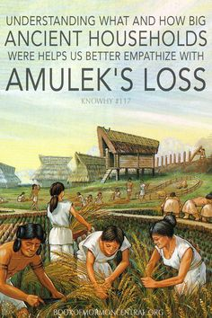 "Amulek specifically mentioning his women, children, father, and kinsfolk as being part of his household provides interesting insight into the social structure of Book of Mormon societies and peoples. Far from the nuclear families prevalent today (consisting of parents and children), this added detail ""suggests an interesting pattern of kin connections"" known in many ancient cultures. https://knowhy.bookofmormoncentral.org/content/why-is-amulek%E2%80%99s-household-significant #bookofmormon"