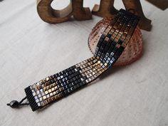 Gold / Silver / Black Mosaic Bracelet