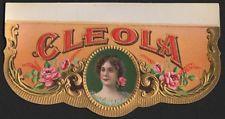 Etikett Zigarrenkiste - CLEOLA / cigar box label / Zigarren Etikett # 1895
