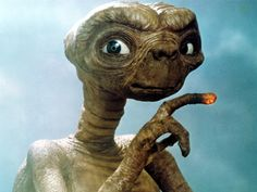 Anyone who knows me, knows how terrified I was of E.T. when I was a kid.  I still remember seeing the movie in a strip mall where everyone was smoking...