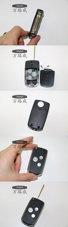 Car Key With 3 Buttons Fob Replacement Blank Cover Flip Folding Remote Keyless Housing Shell For Toyota With Logo
