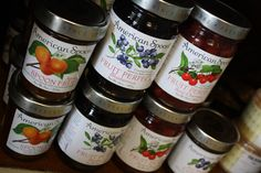 American Spoon preserves and spoon fruits at Kathleens Cookies, made in Petoskey, Michigan!