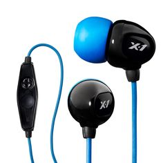 X-1 Surge Contact Waterproof & Sweatproof Headset with Mic Controls for iPhone, iPods and other MP3 Players and Phones