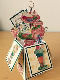 Afternnon Tea Pop-up Box Card