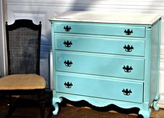 { Coastal Vintage Dresser }