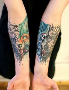 Fox & Wolf Tattoos