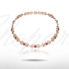 An alluring Rubellite and Diamond Necklace from our Red Carpet Collection.