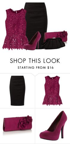 """Lace Top"" by malathik ❤ liked on Polyvore featuring Oscar de la Renta, Monsoon, Qupid and Franchi"