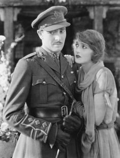 Ronald Colman as Captain Alan Trent and Vilma Banky as Kitty Vane in the 1925 (lost) silent film The Dark Angel. Movie Reels, Movie Tv, Ronald Colman, Actors & Actresses, Hollywood Actresses, Silent Film, British Actors, Classic Hollywood, Burlesque