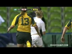 Nicole Beck's awesome try saving tackle on Fiona Pocock