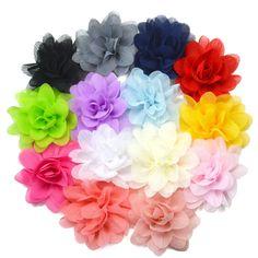PASTEL Fabric Flower Hair Clips Grips Bobbles Bridesmaid Wedding Dance Festival