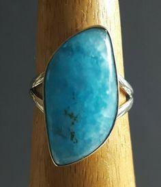 Smithsonite 925 Fine Sterling Silver Ring Size 7 Genuine Stone Superb Shape Sterling Silver Rings, Turquoise Bracelet, Jewelery, Shape, Bracelets, Jewlery, Jewels, Sterling Silver Thumb Rings, Jewerly