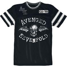 Avenged Sevenfold Deathbat Mesh T-Shirt (front)