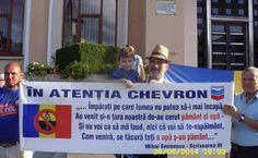 Anti-Chevron protests in Barlad, Romania/ 'Bârlad: ger sau caniculă - demonstraţii continue împotriva fracturării hidraulice 'În ciuda faptului că protestul lor este ignorat de autorităţi, că se anunţă concesionarea a noi şi noi perimetre pe teritoriul ţării, protestatarii din Bârlad sunt convinşi că raţiunea va învinge până la urmă şi că « Chevron nu va reuşi niciodată să amplaseze 2800* de sonde în judeţul lor »…