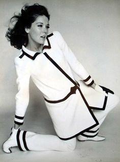 Diana Rigg as Emma Peel, 1960s.