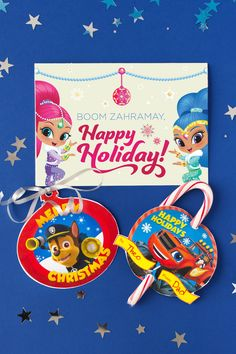 Five Nick Jr. Holiday Greeting Cards
