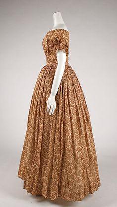 c. 1847 American cotton dress