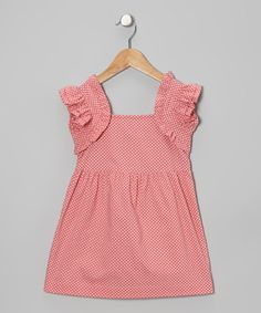 Look what I found on #zulily! Pink Polka Dot Madeline Dress - Infant & Toddler by 1/2 Pint #zulilyfinds