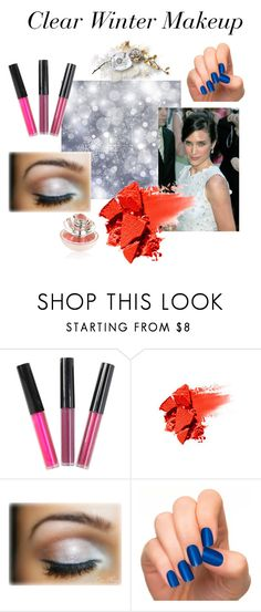 Clear Winter Makeup by expressingyourtruth on Polyvore featuring beauty, NARS Cosmetics, Guerlain and Incoco