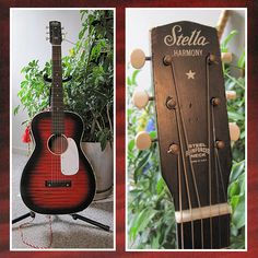 Harmony Stella Vintage Accoustic Guitar with Original Case ~ 1960s ~ looking for a new home