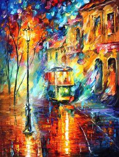 2226 TROLLEY - by Leonid Afremov by Leonidafremov.deviantart.com on @deviantART