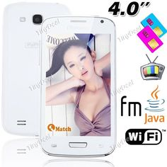 "4.0"" Resistive Touch 2 SIM 4 Band T-Mobile AT"