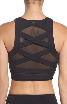 $59 | I love this Zella Covet Sports Bra Top | sports bra | activewear | athletic top | women's athletic clothes | yoga top | running top | #ad