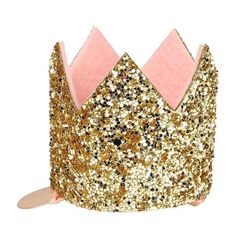 This cute hair clip comes with a beautifully decorated Mini Candle-crown embellished with sparkly gold glitter and with a pink felt inner lining. Pack of Gold glitter & pink felt on gold tone hair clip.Box size: 70 x 90 x Princess Party, Little Princess, Gold Hair Clips, Mini Candles, Hair Slide, One Hair, Gold Crown, Glitter Fabric, Crown Hairstyles