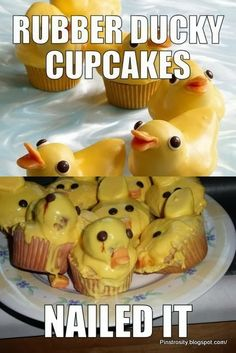 This rubber-ducky cupcake massacre: The 35 Most Heartbreaking Food Fails Of also crying, because i laughed so hard on this. Pinterest Fails, Pinterest Recipes, Pinterest Food, Pinterest Cupcakes, Pinterest Funny, Ricky Martin, Duck Cupcakes, Baking Fails, Fail Nails