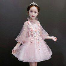 c25986432 Summer Children's dress tutu Princess dress Birthday wedding dress host piano  costume flower girl evening dress